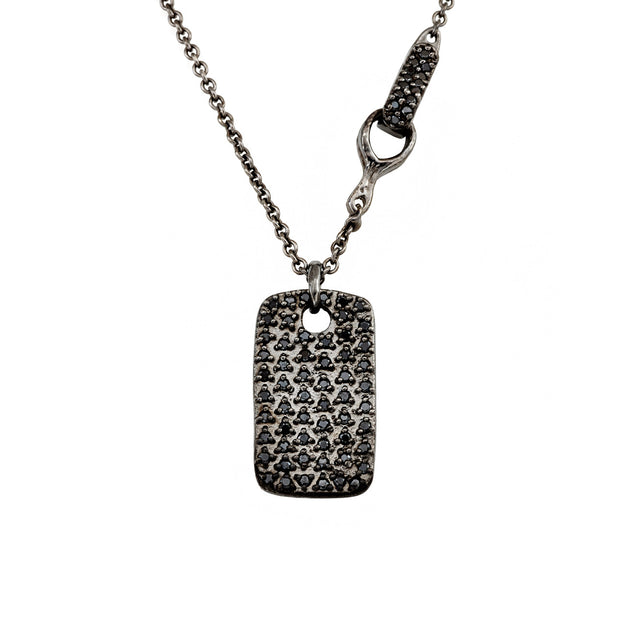 DIAMOND-STUDDED LEGEND TAG (MEDIUM), Necklace - Made local in New York City by the best alternative jewelry store. Shop more Karen Karch & Karch Wolfe at www.karenkarch.com or visit us at 38 Gramercy Park N.