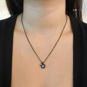 DOUBLE INNER CIRCLE CHARMS, Necklace - Made local in New York City by the best alternative jewelry store. Shop more Karen Karch & Karch Wolfe at www.karenkarch.com or visit us at 38 Gramercy Park N.