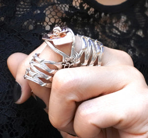 GABRIELLE KNUCKLE GLADIATOR VINE, Ring - Made local in New York City by the best alternative jewelry store. Shop more Karen Karch & Karch Wolfe at www.karenkarch.com or visit us at 38 Gramercy Park N.