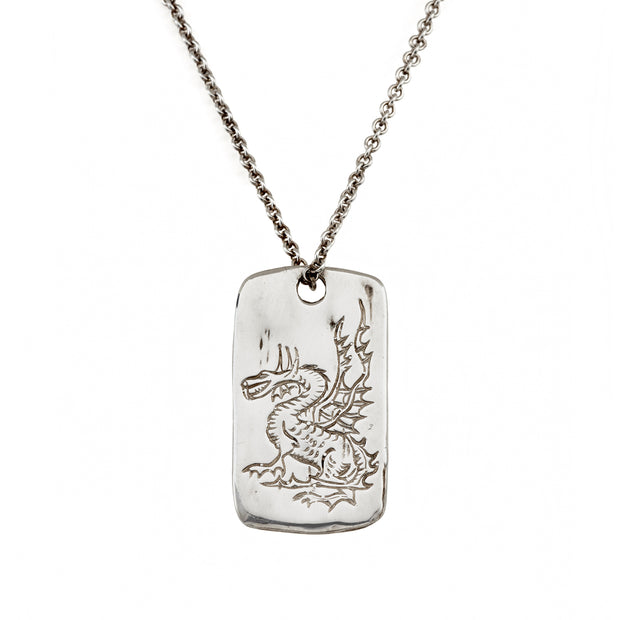 DRAGON LEGEND TAG, Necklace - Made local in New York City by the best alternative jewelry store. Shop more Karen Karch & Karch Wolfe at www.karenkarch.com or visit us at 38 Gramercy Park N.