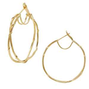 DOUBLE VINE HOOPS, Earring - Made local in New York City by the best alternative jewelry store. Shop more Karen Karch & Karch Wolfe at www.karenkarch.com or visit us at 38 Gramercy Park N.