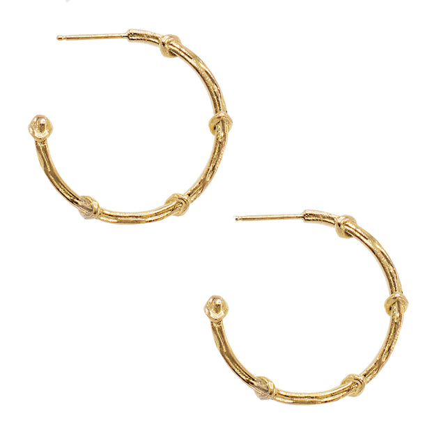 Karen Karch Vine Hoop Earrings, 18k Yellow Gold