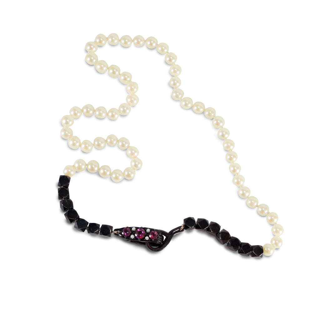 BLACK + WHITE = JUST RIGHT, Necklace - Made local in New York City by the best alternative jewelry store. Shop more Karen Karch & Karch Wolfe at www.karenkarch.com or visit us at 38 Gramercy Park N.