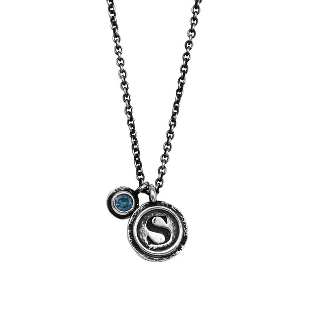DOUBLE INNER CIRCLE CHARM CUSTOMIZED, Necklace - Made local in New York City by the best alternative jewelry store. Shop more Karen Karch & Karch Wolfe at www.karenkarch.com or visit us at 38 Gramercy Park N.