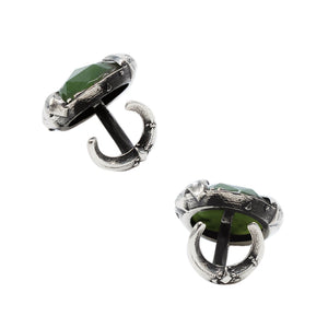 MYSTICAL CUFF LINKS W/ GEM, Cufflink - Made local in New York City by the best alternative jewelry store. Shop more Karen Karch & Karch Wolfe at www.karenkarch.com or visit us at 38 Gramercy Park N.