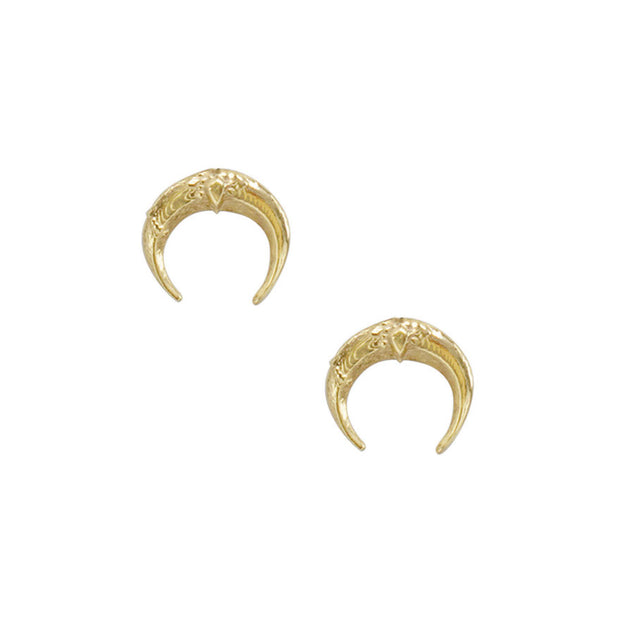 MINI LA LUNA STUDS, Earring - Made local in New York City by the best alternative jewelry store. Shop more Karen Karch & Karch Wolfe at www.karenkarch.com or visit us at 38 Gramercy Park N.