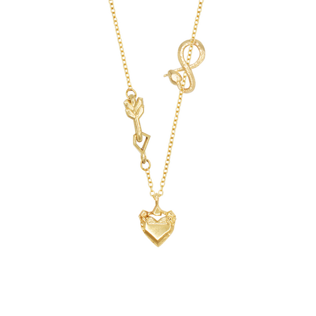 MINI LOVE STRUCK | MINI SNAKE CHARM NECKLACE