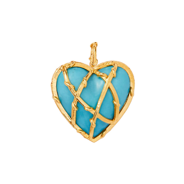 ENTWINED HEART CHARM, 3/4""