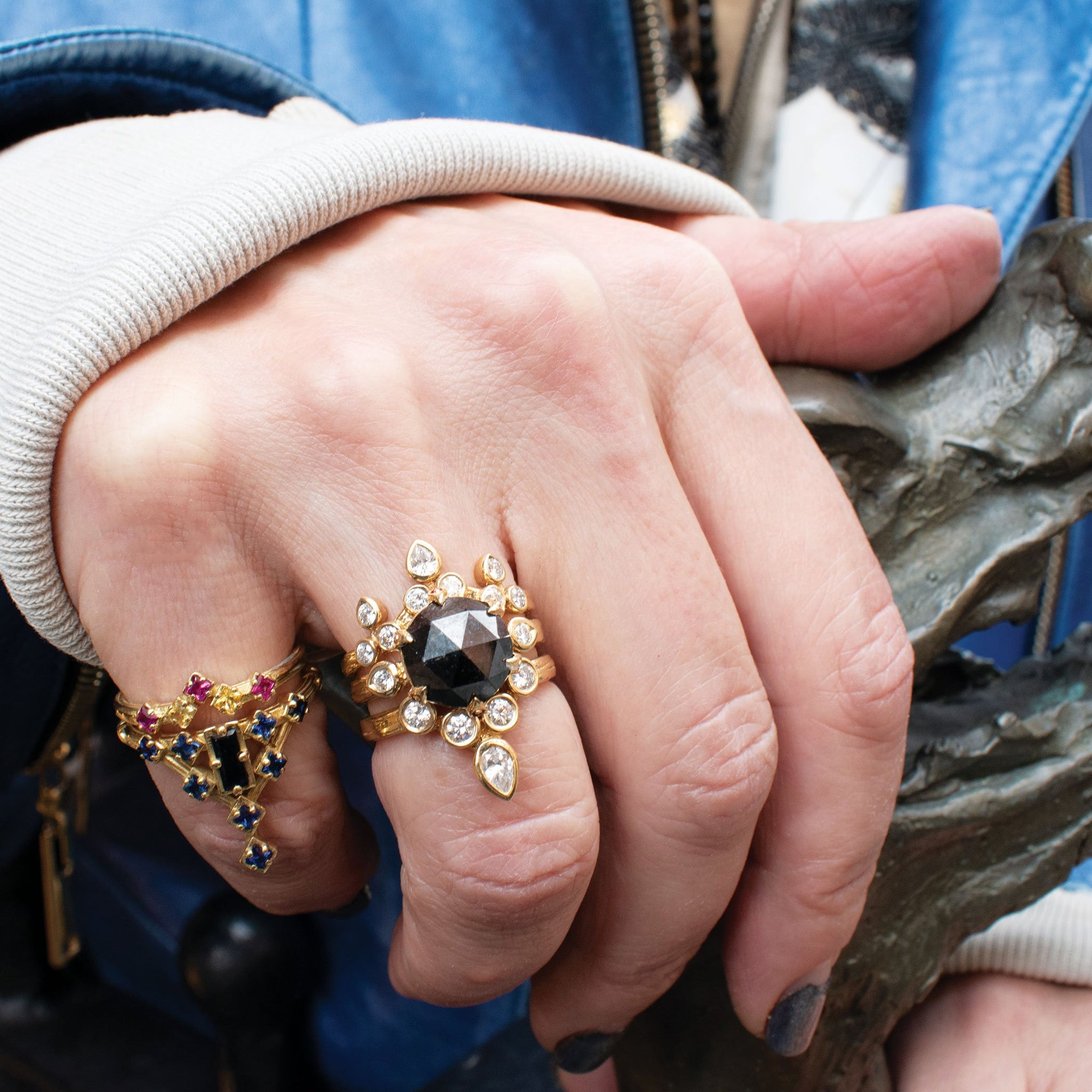 INVINCIBLE CROWN W/ TURNED OUT BELGIAN & INVINCIBLE TIARA, Ring - Made local in New York City by the best alternative jewelry store. Shop more Karen Karch & Karch Wolfe at www.karenkarch.com or visit us at 38 Gramercy Park N.