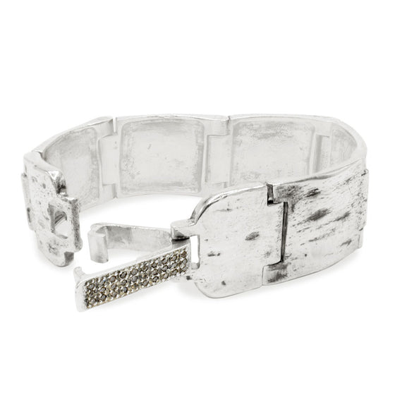 MAINSTAY BRACELET W/ DIAMOND-STUDDED CLASP (20MM)