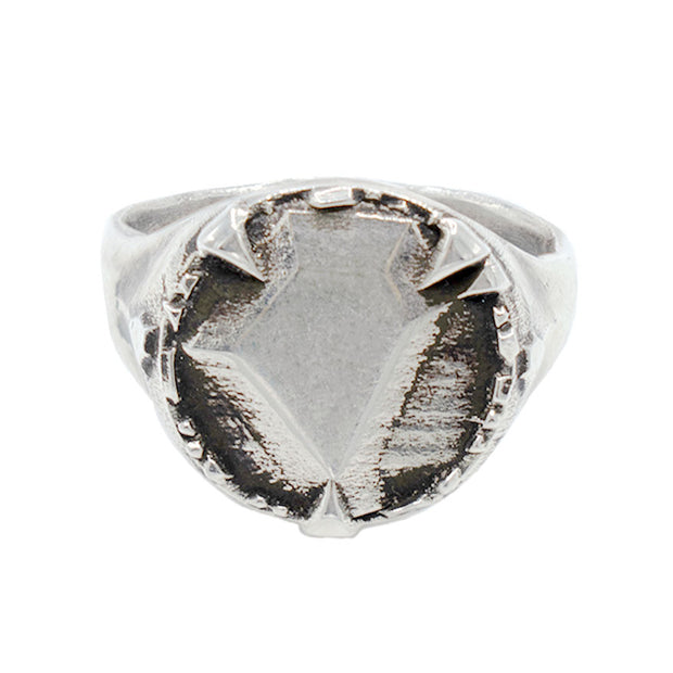 MYSTICAL SIGNET W/ FACETED METAL CENTER MEDALLION (14MM), Ring - Made local in New York City by the best alternative jewelry store. Shop more Karen Karch & Karch Wolfe at www.karenkarch.com or visit us at 38 Gramercy Park N.