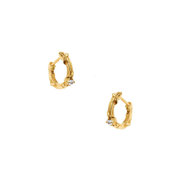 STUDDED LOW STONE VINE HOOP, XS