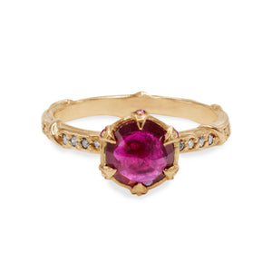 Diamond-studded Vine Solitaire