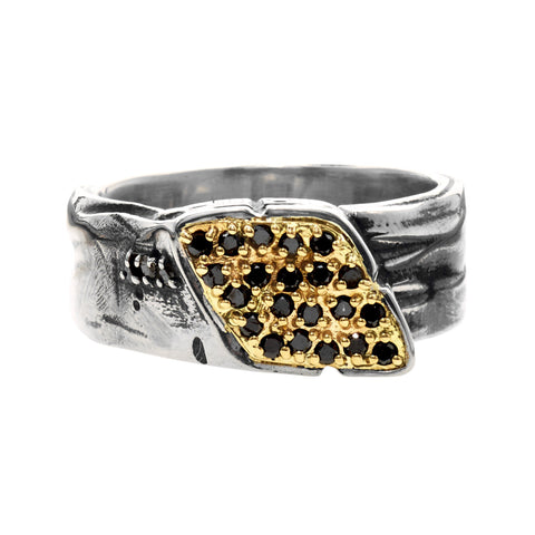 DIAMOND-STUDDED SIGNET WRAP