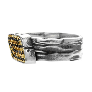 DIAMOND-STUDDED SIGNET WRAP, Ring - Made local in New York City by the best alternative jewelry store. Shop more Karen Karch & Karch Wolfe at www.karenkarch.com or visit us at 38 Gramercy Park N.