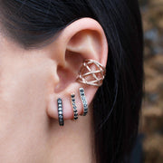 DIAMOND-STUDDED MAINSTAY CUFF HOOP, Earring - Made local in New York City by the best alternative jewelry store. Shop more Karen Karch & Karch Wolfe at www.karenkarch.com or visit us at 38 Gramercy Park N.