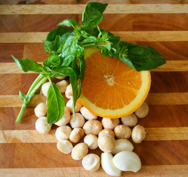 Four-Ingredient Orange Macadamia Pesto Recipe