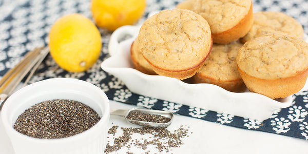Lemon Chia Seed Protein Muffins Recipe