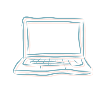 illustration of laptop computer