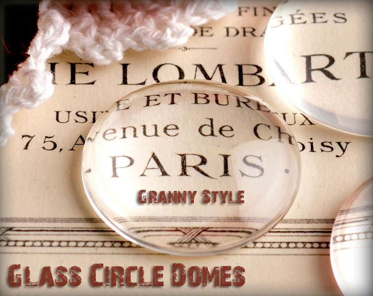 Glass tile pendant supplies grannys vip fx glass simply granny 18mm round clear glass cabochons aloadofball Image collections