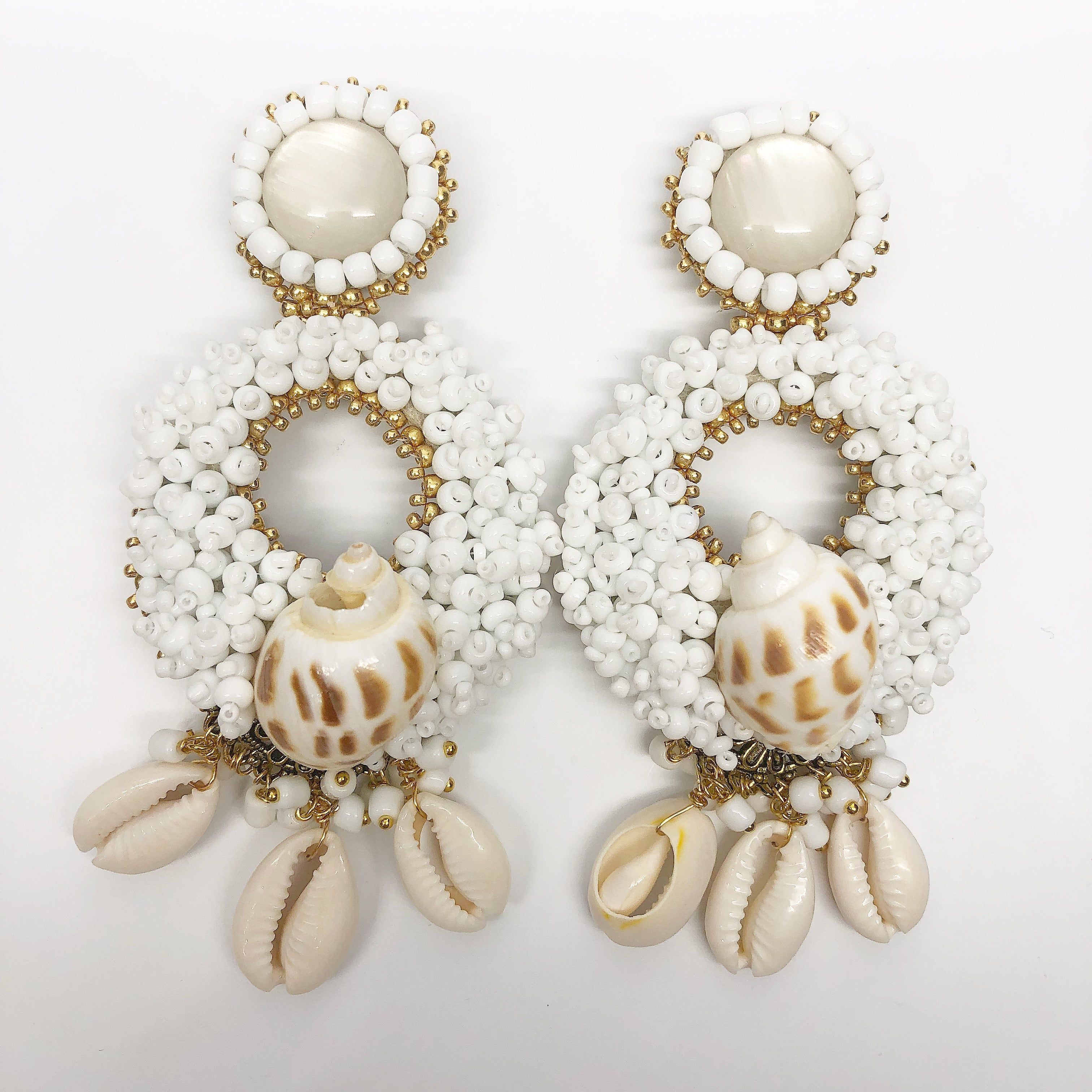 rock + bone handmade statement earrings Alegra Charms