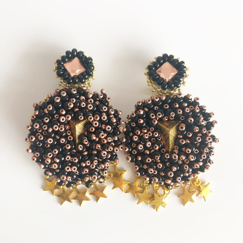 rock + bone handmade statement earrings Mini Alegra