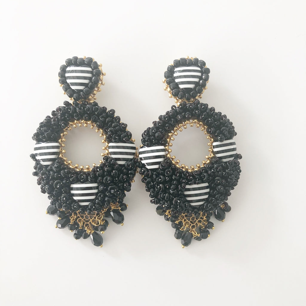 Handmade Statement Earrings - Alegra Hearts