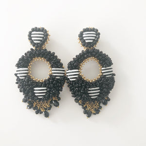 rock + bone handmade statement earrings Alegra Hearts