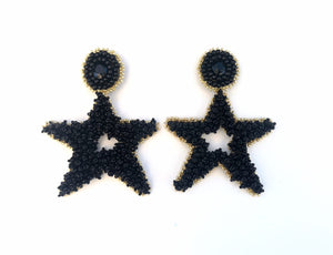 rock + bone handmade statement earrings Stella Stars (3 colors)