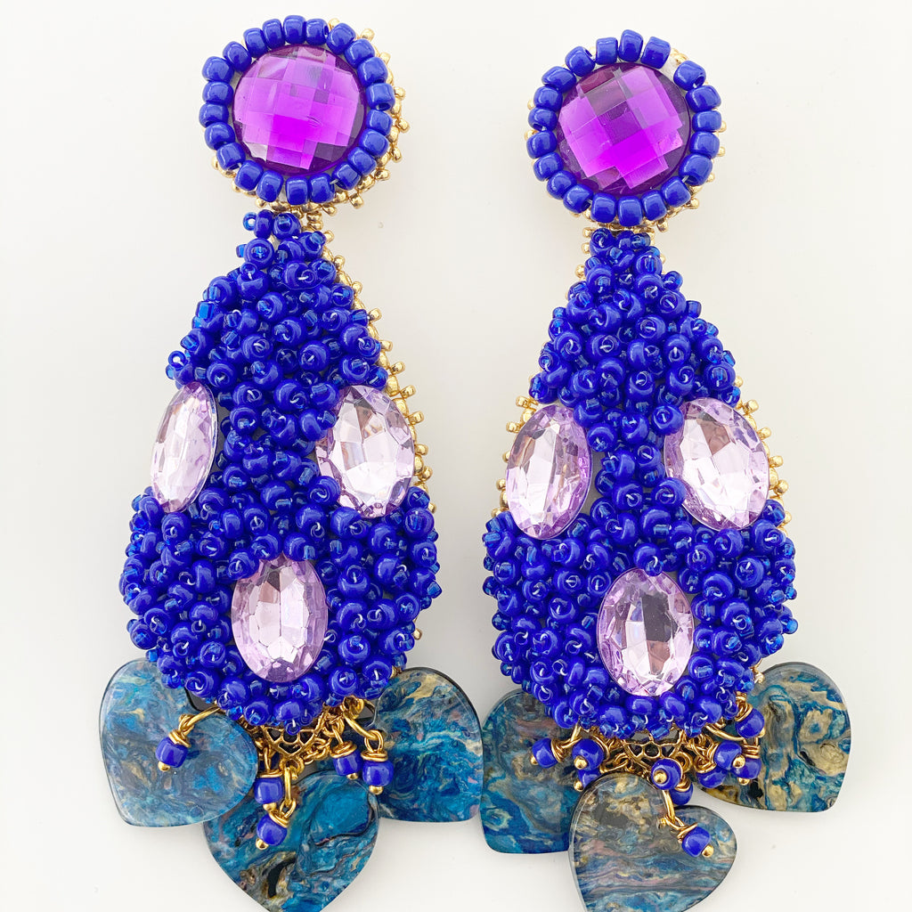 Handmade Statement Earrings - Teardrop