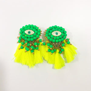 Handmade Statement Earrings - Mini Evil Eyes