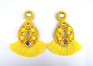 Handmade Statement Earrings - ELA (Available in 3 colors)