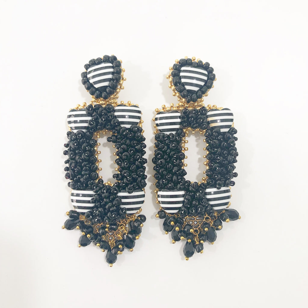 Handmade Statement Earrings - Alegra Rectangular