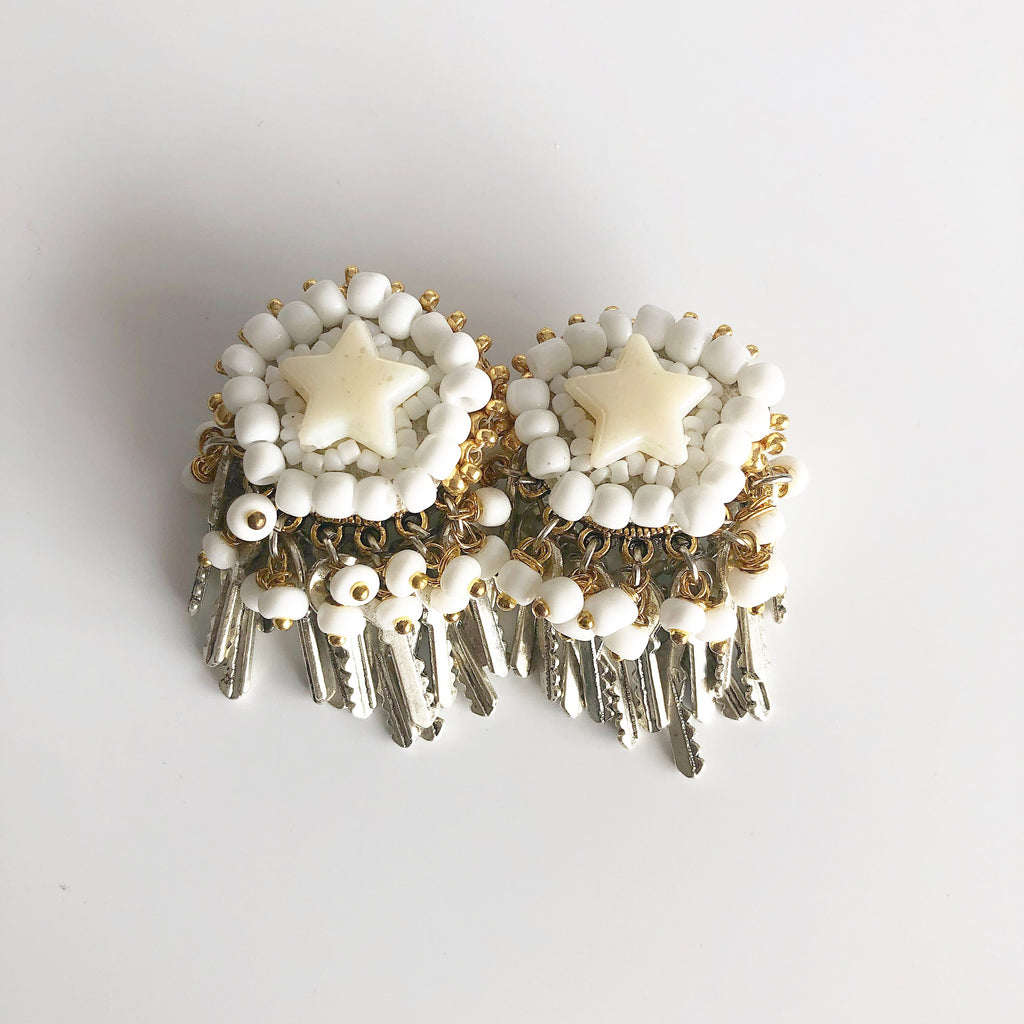 rock + bone handmade statement earrings Mini Stars
