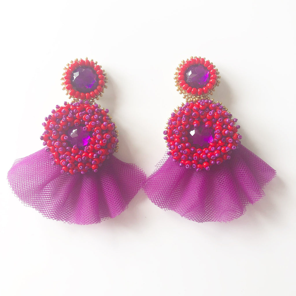 Handmade Statement Earrings - Mini Alegra