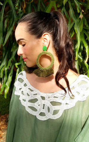 rock + bone handmade statement earrings Bella