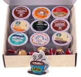 Assorted Flavored K-Cups Buckeyes Coffee Lovers Gift Box FUNsational Finds