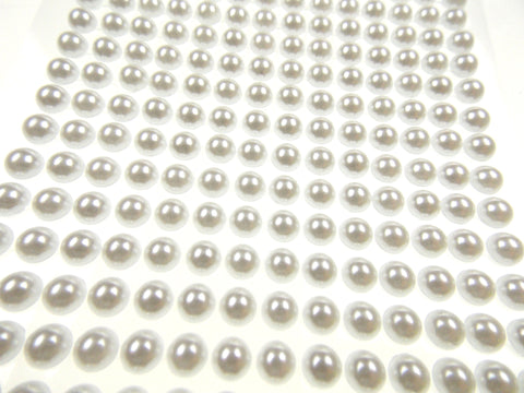 Pearls White Self Adhesive Stick On Craft Stickers 6mm 504 pcs Lot 6 Nola Blake