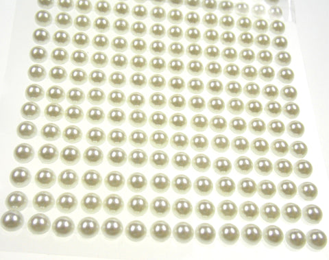 Pearls Cream Self Adhesive Stick On Craft Stickers 6mm 504 pcs Lot 6 Nola Blake