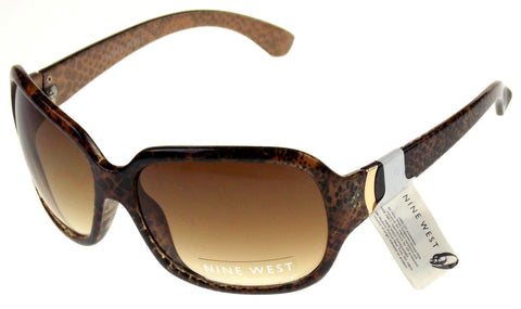 Nine West Cats Eye Sunglasses Brown Print 100% UV Protection Plastic 64-18-130 - FUNsational Finds - 1