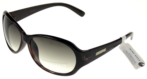 Nine West Oval Sunglasses Brown Marble 100% UV Protection Plastic 60-15-130 - FUNsational Finds - 1