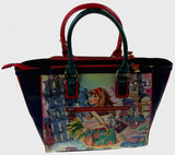 Nicole Lee Handbag Tulip Girl Shopping Tote Bag TUL10674 Bling Rhinestones Purse - FUNsational Finds - 1