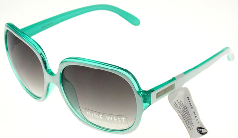 Nine West Cat Eye Sunglasses White Green 100% UV Protection Plastic 58-16-135 Lg - FUNsational Finds - 1