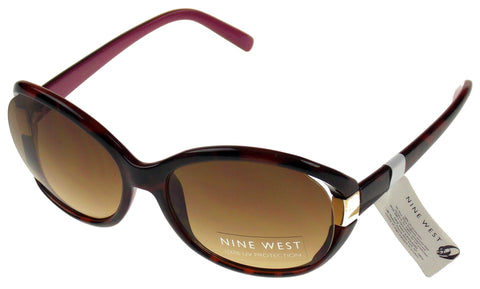 Nine West Cat Eye Sunglasses Brown Marble 100% UV Protection Plastic 62-18-125 - FUNsational Finds - 1