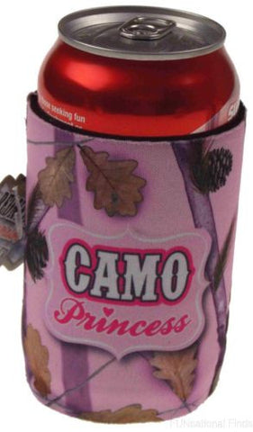 Lot of 3 Pink Camo Princess Can Beverage Cooler Koozie Cover Redneck Gag Gift - FUNsational Finds