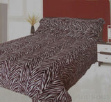 Set 2 Sherpa Pillow Shams Brown Animal Print Regal Comfort Luxurious DPS1004 NEW - FUNsational Finds - 2
