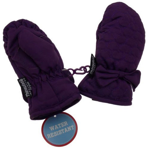 Wonderkids Toddler Purple Winter Mittens 3M Thinsulate Insulation One Size Snow - FUNsational Finds - 1