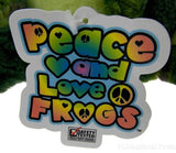 Peace and Love Frog Camo Is My Favorite Color Hanging Plush Embroidered Green - FUNsational Finds - 4