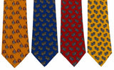 Lot 4 Olimpo 100% Silk Neckties Chinese Lantern Ornament Classic Dress Business - FUNsational Finds - 1