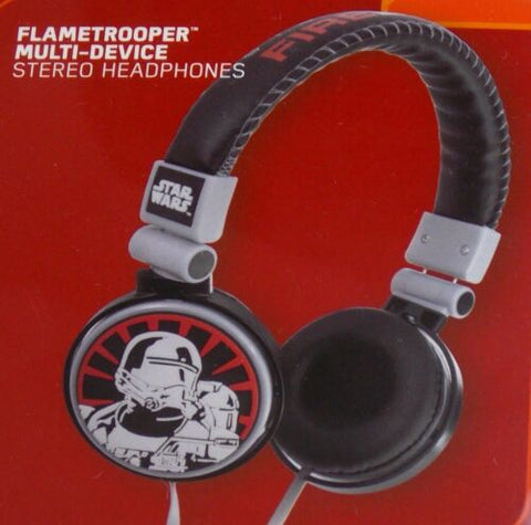 Headphones Star Wars The Force Awakens Flametrooper Disney Multi Device Stereo
